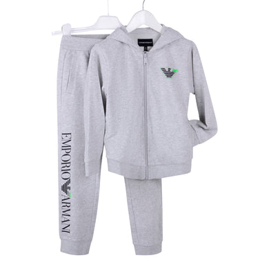 Boys Grey Logo Tracksuit