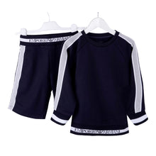 Load image into Gallery viewer, Boys Navy Sweat Top & Shorts