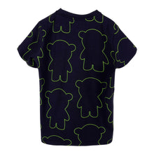Load image into Gallery viewer, Navy Manga Bear Logo T-Shirt