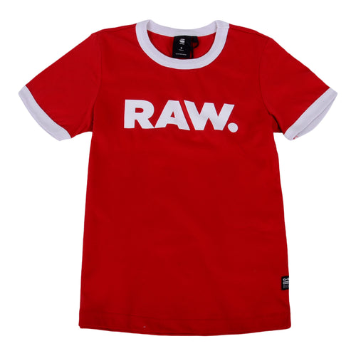 Red 'RAW' T-Shirt