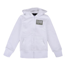 Load image into Gallery viewer, White & Khaki Zip Up Hoodie