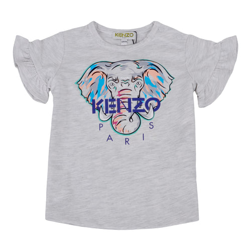 Grey Girls Elephant T-Shirt