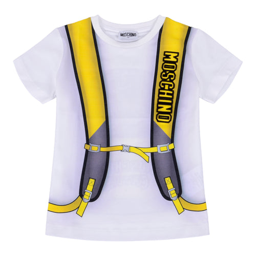White & Yellow Backpack T-Shirt