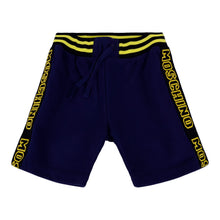 Load image into Gallery viewer, Navy & Yellow Sweat Shorts