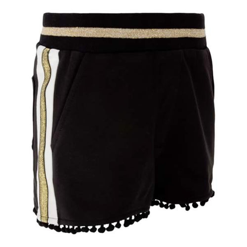 Monnalisa Sale Black Pom Pom Shorts