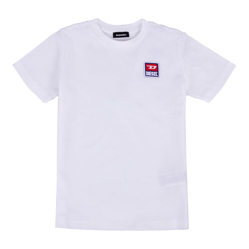 White Applique Badge T-Shirt