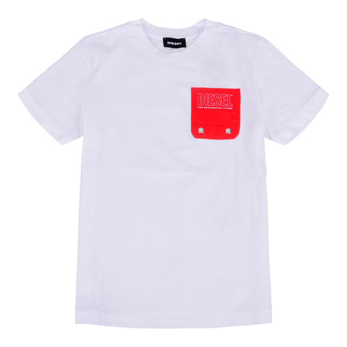 White & Red Pocket T-Shirt