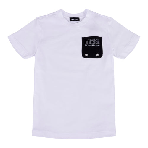 White & Navy Pocket T-Shirt