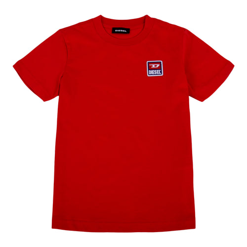 Red Applique Badge T-Shirt