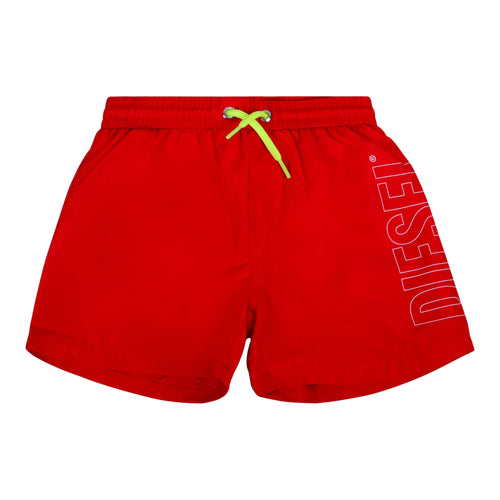 Red Logo Swimming Shorts