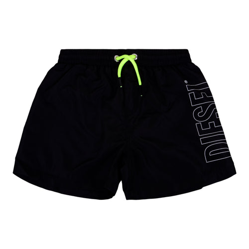 Black Logo Swimming Shorts