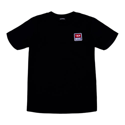 Black Applique Badge T-Shirt