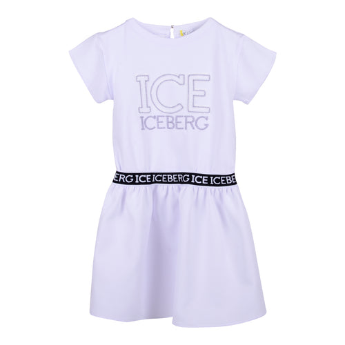 White Logo Dress