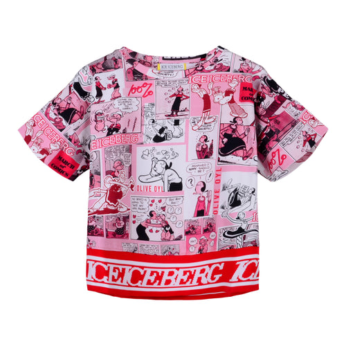 Pink Popeye Comic T-Shirt