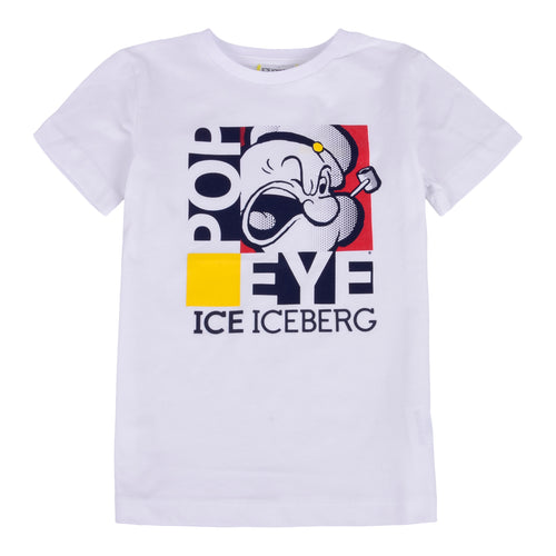 Boys White Popeye T-Shirt