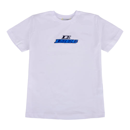 White & Blue Logo T-Shirt