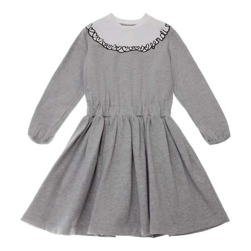 Fendi Girls Grey Logo Dress