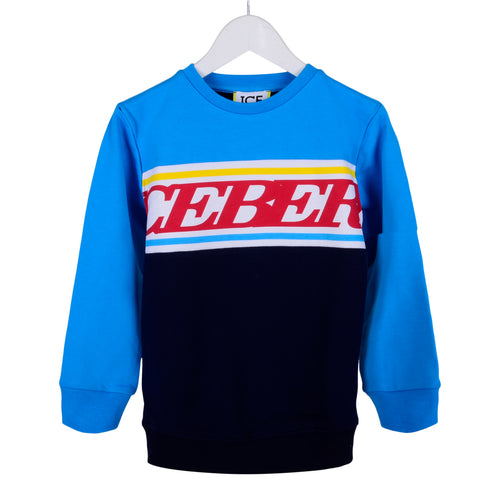Blue Logo Sweat Top