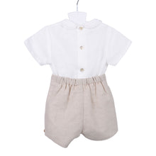 Load image into Gallery viewer, Beige Shirt & Shorts Set