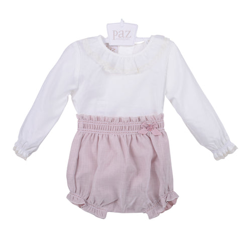 Powder Pink Shorts & Shirt Set