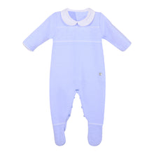 Load image into Gallery viewer, Chalk Blue Knitted Babygrow