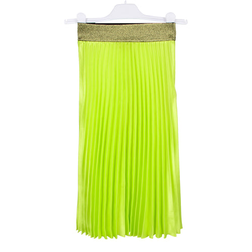 Lime Pleated Skirt