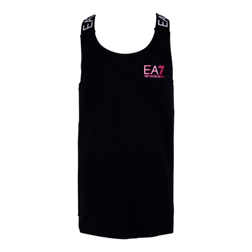Girls Black Cross Back Tank Top