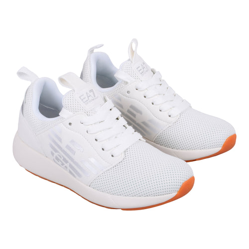 White Mesh EA7 Trainer
