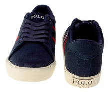 Load image into Gallery viewer, Navy 'Geoff' Suede Trainers