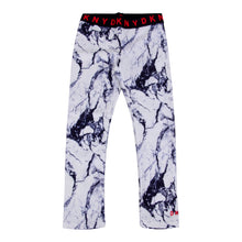 Load image into Gallery viewer, White & Navy Marble Print Leggings