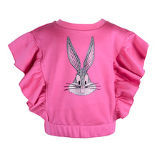 Load image into Gallery viewer, Pink Embellished Bugs Bunny Sweat Top