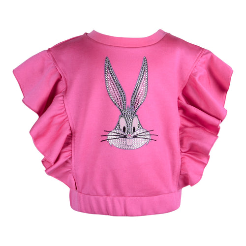 Pink Embellished Bugs Bunny Sweat Top