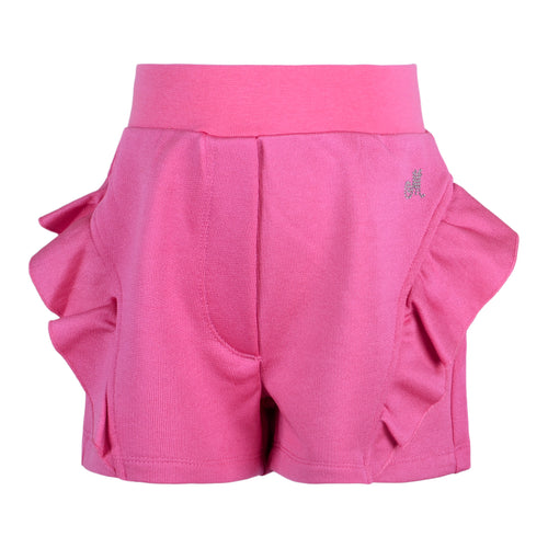 Pink Frill Sweat Shorts
