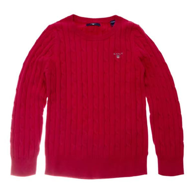 Raspberry Cable Knit Jumper