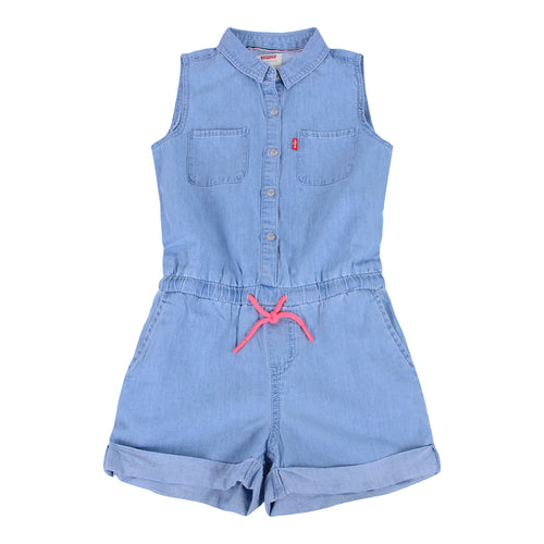 Levi's Girls Blue Chambray Playsuit