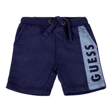 Load image into Gallery viewer, Blue Distressed Logo Shorts