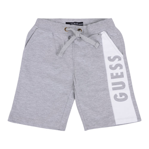 Grey GUESS Boys Logo Shorts