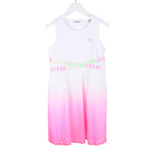 Load image into Gallery viewer, White & Pink Ombre Pleated Dress