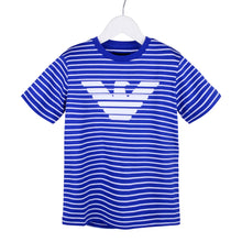 Load image into Gallery viewer, Blue & White Stripe T-Shirt