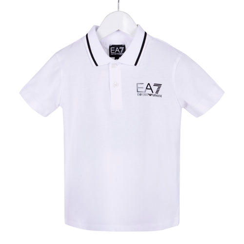 EA7 Emporio Armani Boys White Polo Shirt