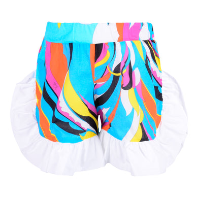 Emilio Pucci Girls Blue Frill Shorts