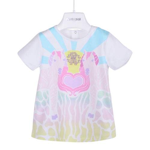 Roberto Cavalli Baby Girls White Horses RC T-Shirt