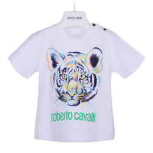 Load image into Gallery viewer, Roberto Cavalli Baby Boys White Tiger T-Shirt