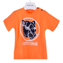 Load image into Gallery viewer, Roberto Cavalli Baby Boys Orange Panther T-Shirt
