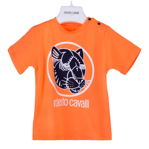Roberto Cavalli Baby Boys Orange Panther T-Shirt