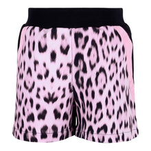 Load image into Gallery viewer, Roberto Cavalli Girls Black & Pink Leopard Shorts