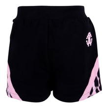 Load image into Gallery viewer, Black & Pink Leopard Shorts