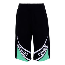 Load image into Gallery viewer, Roberto Cavalli Boys Black & Green Sweat Shorts