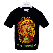 Load image into Gallery viewer, Roberto Cavalli Boys Black Lion Print T-Shirt