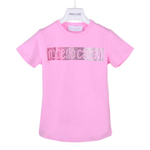 Load image into Gallery viewer, Roberto Cavalli Girls Pink Diamante T-Shirt